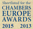 Chambers Europe Awards for Excellence 2015 and 2013