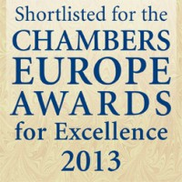 "Anwaltsbüro ""Korelskiy, Ischuk, Astafiev & Partners"" - im Finale der internationalen Prämie Chambers Europe Awards for Excellence 2013"